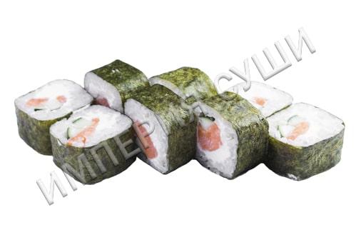 Ролл с лососем, огурцом и сыром